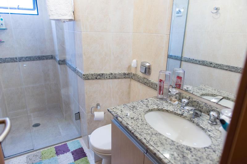 Banheiro Suíte - Pensionato Crystal Curitiba